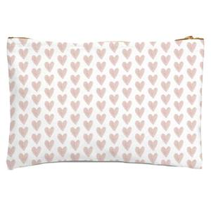 Pink Hearts Zipped Pouch