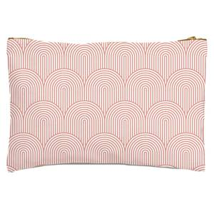 Trippy Rainbow Pink Zipped Pouch