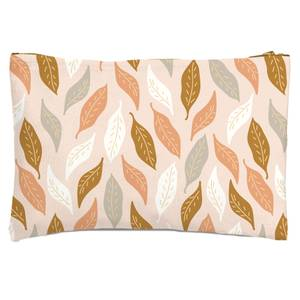 Retro Leaves Zipped Pouch