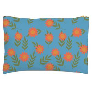 Retro Sunflowers Zipped Pouch