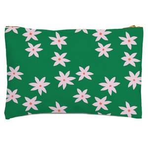 Retro Pressed Flowers Zipped Pouch