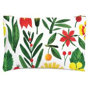 Retro Florals Zipped Pouch