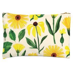 Retro Mellow Flowers Zipped Pouch