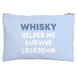 Whisky Helped Me Survive Lockdown Zipped Pouch