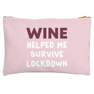 Wine Helped Me Survive Zipped Pouch