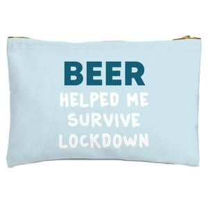 Beer Helped Me Survive Lockdown Zipped Pouch