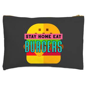 Stay Home Eat Burgers Zipped Pouch