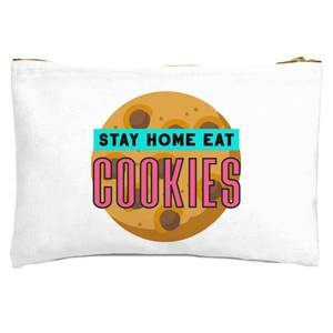 Stay Home Eat Cookies Zipped Pouch