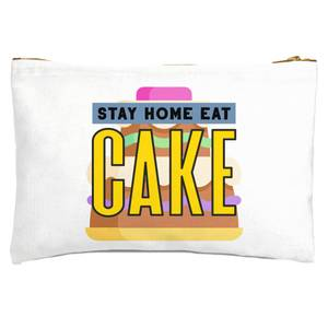 Stay Home Eat Cake Zipped Pouch