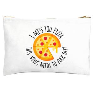 I Miss You Pizza! Zipped Pouch