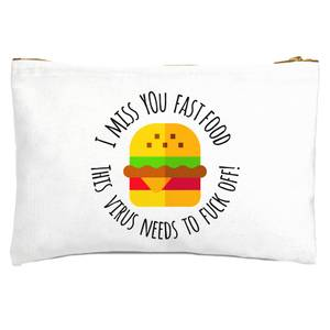 I Miss You Fast Food Zipped Pouch
