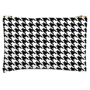 Monochrome Dogtooth Zipped Pouch
