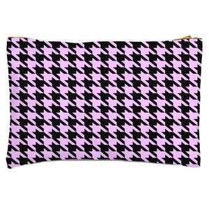 Light Pink Dogtooth Zipped Pouch