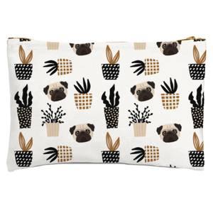 Pug & Cactus Zipped Pouch