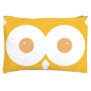 Yellow Owl Zipped Pouch