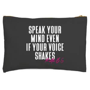 Speak Your Mind Even If Your Voice Shakes Zipped Pouch