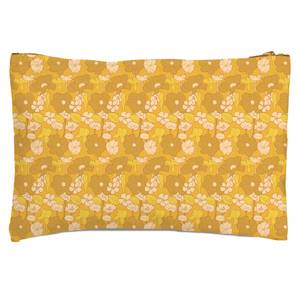 60s Floral Wallpaper Zipped Pouch