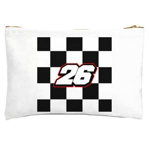 Motorcycle Number 26 Zipped Pouch