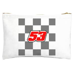 Motorcycle Number 53 Zipped Pouch