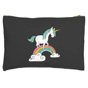 Unicorn Walking Over Rainbow Zipped Pouch