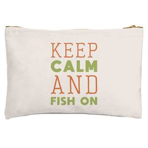 Keep Calm And Fish On Zipped Pouch