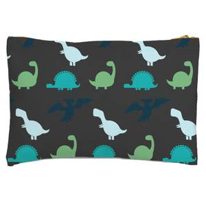 Dino Silhouette Pattern Zipped Pouch