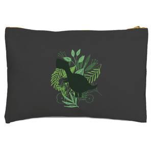 T-Rex Silhouette Foliage Zipped Pouch