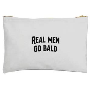 Real Men Go Bald Zipped Pouch