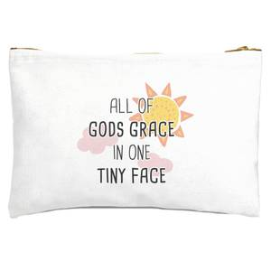 All Of Gods Grace In One Tiny Face Zipped Pouch