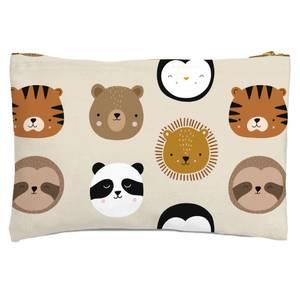 Animal Pattern Zipped Pouch