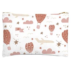 Earth Toned Kids Pattern Zipped Pouch