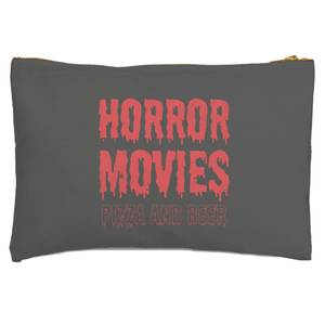 Horror Movie Pizza And Beer Zipped Pouch