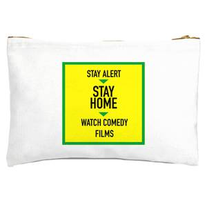 Stay Alert Stay Home And Watch Comedy Films Zipped Pouch