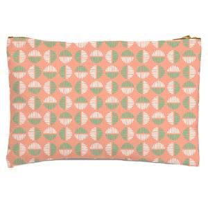 Retro Pink & Green Circles Zipped Pouch