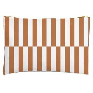 Retro Rust Stripes Zipped Pouch