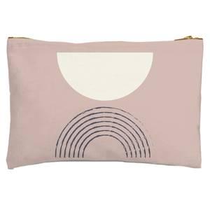Retro Half Circle Zipped Pouch