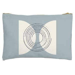 Linear Circles Zipped Pouch