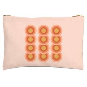 Retro Gradient Circles Zipped Pouch