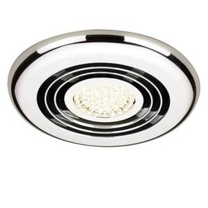 Rapide Inline ceiling extractor fan with LED Lighting - Chrome