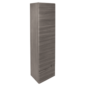 Vermont Right Hand Wall Mounted Tall Unit - Grey Avola