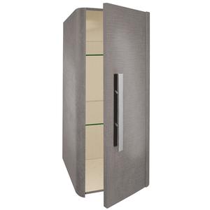 Linen Mini Tall Wall Mounted Cabinet - Grey