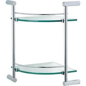 Minimalist Double Glass Corner Shelf