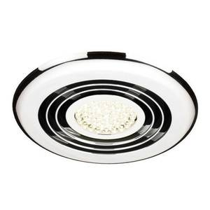 Rapide Inline Wet Room extractor fan with LED Lighting - Chrome