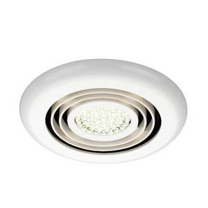 Rapide Inline Wet Room extractor fan with LED lighting - White