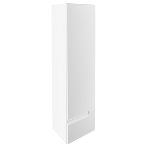 Vermont Left Hand Wall Mounted Tall Unit - Gloss White