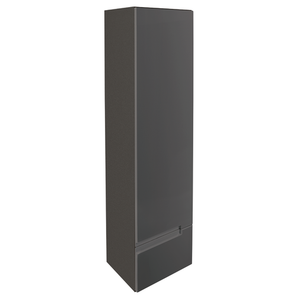 Vermont Left Hand Wall Mounted Tall Unit - Gloss Grey