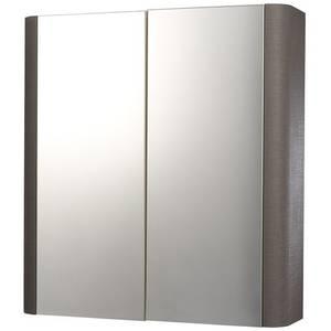 Linen 600mm Mirror Wall Cabinet - Grey