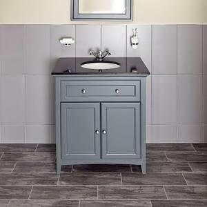 Savoy 790mm Granite Top Floorstanding Vanity Unit - Charcoal Grey