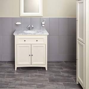 Savoy 790mm Marble Top Floorstanding Vanity Unit - Old White