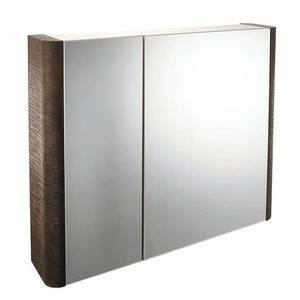 Linen 800mm Mirror Wall Cabinet - Rust